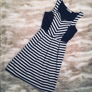 Black & White Striped Mystic Skater Dress